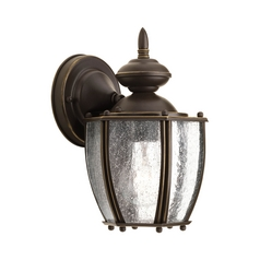 Seeded Glass Outdoor Wall Light Bronze Progress Lighting
