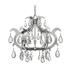 Frederick Ramond Xanadu Polished Stainless Steel Chandelier