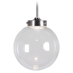 Kenroy Home Lighting Constellation Brushed Steel LED Mini-Pendant Light with Globe Shade