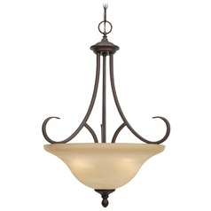 Golden Lighting Lancaster Rubbed Bronze Pendant Light
