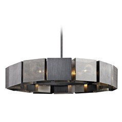 Troy Lighting Impression Graphite / Satin Nickel Pendant Light with Square Shade