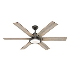 Hunter 60-Inch Noble Bronze LED Ceiling Fan with Light and Wall Control
