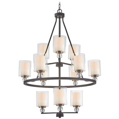 Minka Lavery Studio 5 Painted Bronze with natural Brush Chandelier