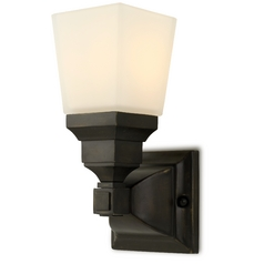Design Classics Lighting Frosted-Glass Sconce 8201-20