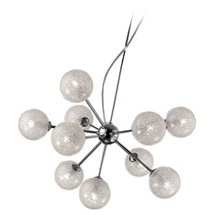 Mid-Century Modern Chandelier Chrome Opulence by Access Lighting