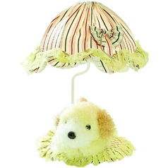 Lite Source Lighting Puppy Yellow Table Lamp with Bowl / Dome Shade