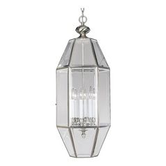 Progress Cage Pendant Light with Clear Beveled Glass