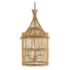 Currey and Company Tobago Khaki / Natural Pendant Light