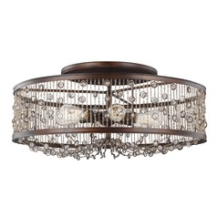 Feiss Lighting Colorado Springs Chestnut Bronze Semi-Flushmount Light