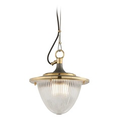 Troy Lighting Fly Boy Pendant Light with Fluted Shade