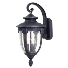 Minka Lighting Outdoor Wall Light with Clear Glass in Heritage Finish 8952-94