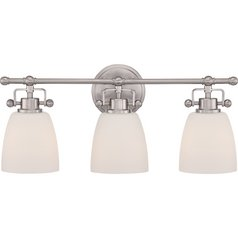 Quoizel Bower Brushed Nickel Bathroom Light