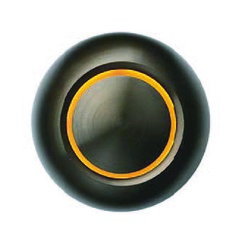 Spore Doorbells Amber X Dark Bronze Doorbell Button
