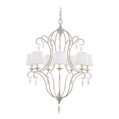 Feiss Lighting Caprice Chalk Washed Chandelier