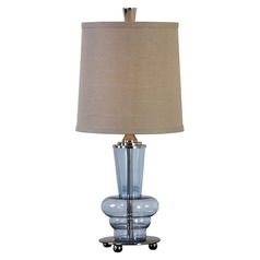 Uttermost Aubin Blue Glass Buffet Lamp