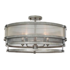 Kalco Delano Bronze Jewel Tone Semi-Flushmount Light
