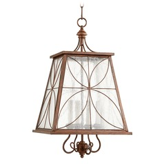 Quorum Lighting Salento Vintage Copper Pendant Light with Square Shade