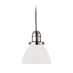 Hudson Valley Lighting Mini-Pendant Light with White Glass 3102-PN-823