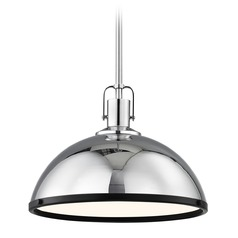 Nautical Pendant Light Chrome with 13.38-Inch Wide
