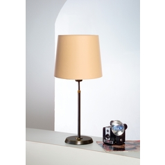 Holtkoetter Modern Table Lamp with Beige / Cream Shade in Hand-Brushed Old Bronze Finish