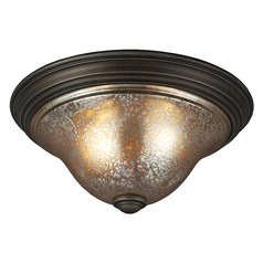 Mercury Glass Flushmount Light Bronze Sea Gull Lighting
