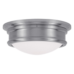 Livex Lighting Astor Brushed Nickel Flushmount Light