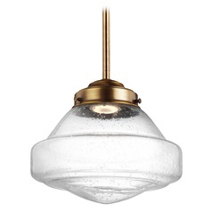 Feiss Alcott Aged Brass LED Mini-Pendant Light