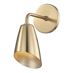 Kai Aged Brass LED Sconce Mitzi by Hudson Valley