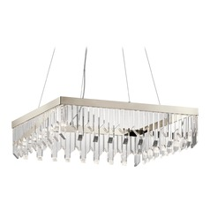 Crystal LED Crystal Chandelier Polished Nickel Crystalline by Kichler Lighting