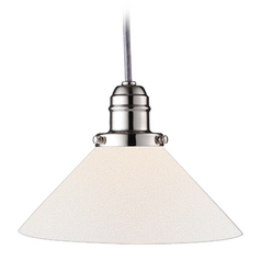 Hudson Valley Lighting Mini-Pendant Light with White Glass 3102-PN-M9