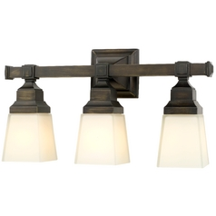 Design Classics Lighting Three-Light Frosted-Glass Bathroom Light 8203-20