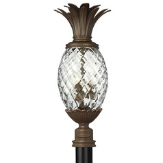 25-1/4 Inch Copper Bronze Pineapple Outdoor Post Light