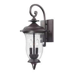 Seeded Glass Outdoor Wall Light Oil Rubbed Bronze Thomas Lighting