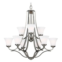 Feiss Lighting Hamlet Satin Nickel Chandelier