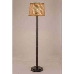 Lite Source Tamarice Dark Bronze Floor Lamp with Drum Shade