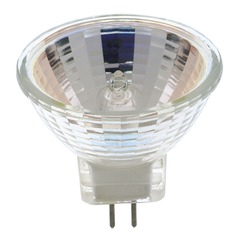 Halogen MR-8 Light Bulb Bi-Pin Narrow Flood 23 Degree Beam Spread 2900K 12V Dimmable