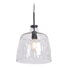 Access Lighting Simplicite Black Pendant Light with Bowl / Dome Shade