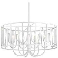 Transitional Chandelier White Sutton by Kichler Lighting