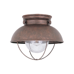 Marine / Nautical Close to Ceiling Light Copper Sebring by Sea Gull Lighting