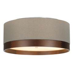 Satin Nickel Flushmount Ceiling Light by Tech Lighting