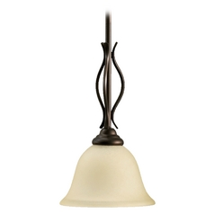 Quorum Lighting Spencer Oiled Bronze Mini-Pendant Light with Bell Shade