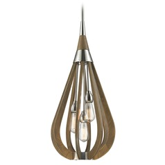 Elk Lighting Janette Polished Nickel Pendant Light