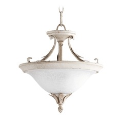 Quorum Lighting Flora Persian White Pendant Light with Bowl / Dome Shade
