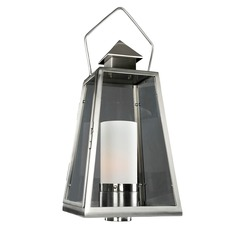 Kalco Shorecrest Brushed Stainless Steel Post Light