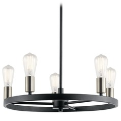 Transitional Chandelier Black Brooklyn by Kichler Lighting