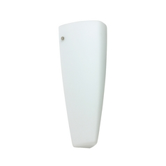 Sconce Wall Light White Glass Satin Nickel by Besa Lighting