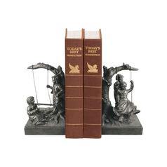 Children at Play Decorative Bookend Set