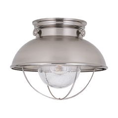 nautical ceiling light diy marine nautical close to ceiling light brushed stainless sebring by sea gull lighting lights fixtures