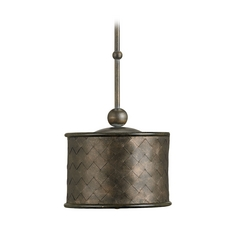 Drum Pendant Light with Metal Iron Shade