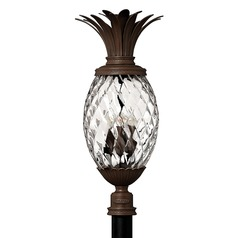 29-1/2 Inch Copper Bronze Pineapple Outdoor Post Light